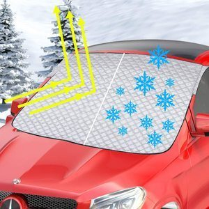 10. Bliifuu Windshield Snow Cover, 4-Layer Thick Material