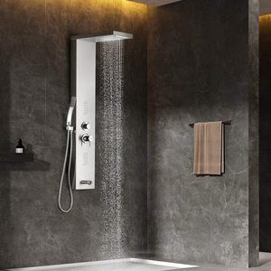10. Multifunctional Shower Panel system Rainfall Waterfall Spout