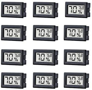 10. binfrog Mini Indoor Thermometer, 12 Pack