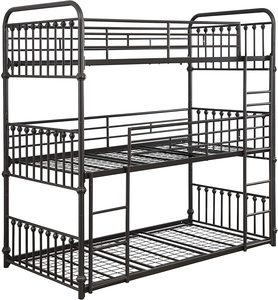 #3 Coaster Furniture Navarino Triple Bunk Bed