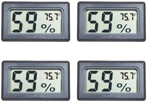 3. Veanic 4-Pack Mini Digital Indoor Thermometer