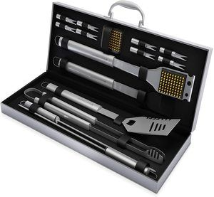 4. Home-Complete BBQ Grill Tool Set- 16 Piece