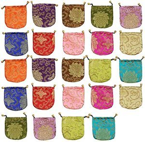 4. kilofly Chinese Silk Brocade Drawstring Pouch