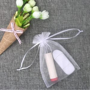 5. SumDirect White Sheer Drawstring Jewelry Pouches, 100Pcs