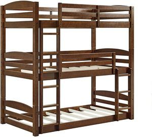 #7 Dorel Living Sierra Triple Bunk Bed