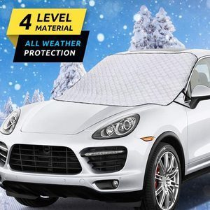 7. HEHUI Car Windshield Snow Cover with 4 Layers Protection