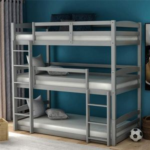 #8 Wood Triple Bunk Beds