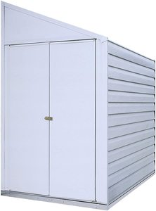 #8. Arrow 4' x 7' Yardsaver Galvanized Steel Compact Storage Shed
