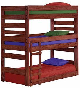 #9 Cass County Twin Triple Bunk Bed