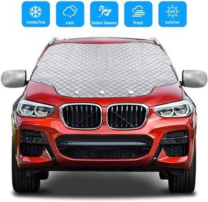 9. Gintenco Car Windshield Snow Cover, 4 Layers Thickness