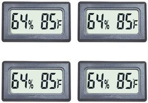 9. Veanic 4-Pack Mini Digital Thermometer