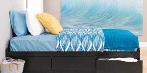 #1 Prepac Captain's Platform Storage Bed with 6 Drawers