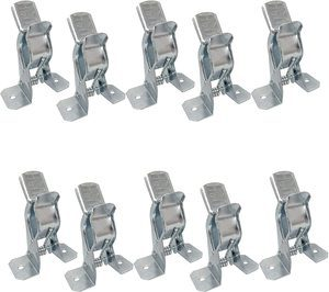 #10 Bulldog Clamp (10 Pack) Spring Grip Garage Closet Wall