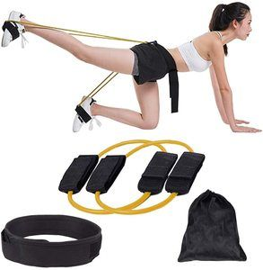 #4 KIKIGOAL Fitness Training Resistance Belt Leg Strength