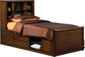 #7 Coaster Home Furnishings Twin Chest Bed, Warm Brown