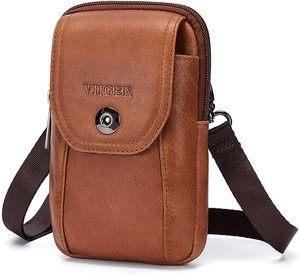 #8 VIIGER Leather Small Travel Purse Crossbody Phone Bag
