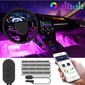 #1 Govee Car LED Strip Light, MINGER APP Controller Car