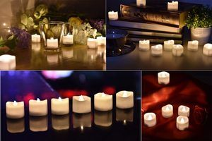 #1 eLander LED Tea Lights Flameless Candle with Timer