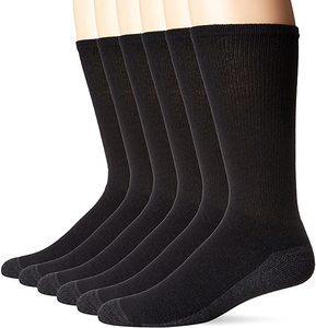 1. Hanes Men's Comfortblend Max Cushion Crew Socks, 6-Pack