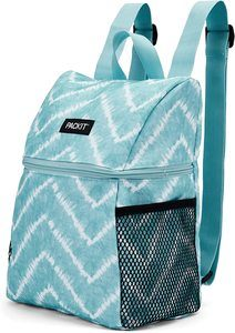 1. PackIt Freezable Everyday Lunch Backpack, Aqua Tie Dye