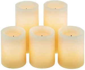 #2 Candle Impressions Design Pillar Real Wax Flameless Candles