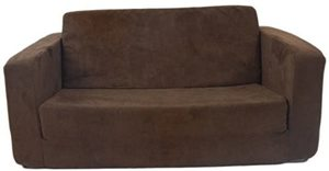 #2 Fun Furnishings Toddler Flip Sofa, Brown