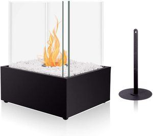 2. BRIAN & DANY Ventless Cube XL Tabletop Fireplace