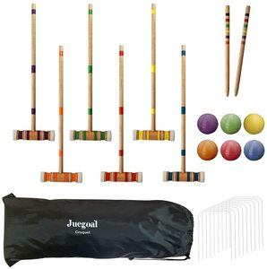 2. Juegoal Six Player Croquet Set with Drawstring Bag