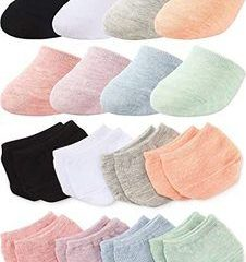 2. Toe Topper Liner Half Socks Seamless Women's Socks, 8 Pairs