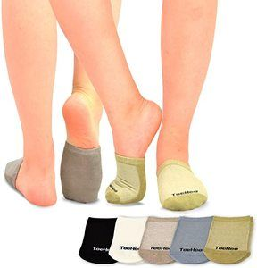 3. TeeHee Womens Seamless Toe Topper Liner, 5 pairs