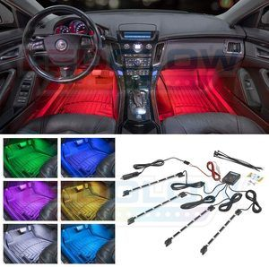 #4 LEDGlow 4pc Multi-Color LED Interior Neon Light Kit