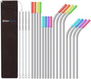 #4 StrawExpert Set of 16 Reusable Stainless Steel Straws