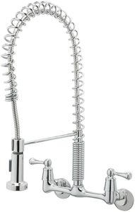 #4 TOSCA Handles Wall-Mount Pull-Down Sprayer Kitchen Faucet