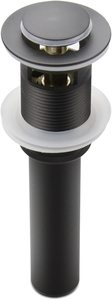 4. Pop Up Drain Stopper with Overflow, Black