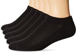 5. Hanes Men's 5-Pack Ultimate FreshIQ X-Temp No Show Socks