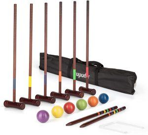 5. ROPODA Six-Player Deluxe Croquet Set