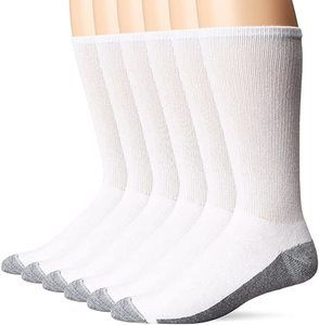 6. Hanes Men's Comfortblend Max Cushion Crew Socks, 6-Pack
