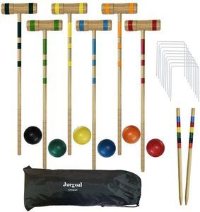 6. Juegoal Upgrade Six Player Croquet Set for Kids Family