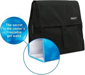 6. PackIt Freezable Lunch Bag with Zip Closure