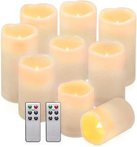 #7 comenzar Flameless Candles Battery Candles Set of 9