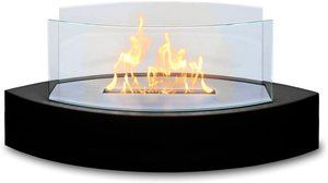 7. Anywhere Fireplace Lexington Table Top Ethanol Fireplace (Black)