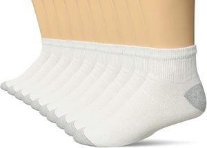 7. Hanes Men's 10 Pack Ankle Socks