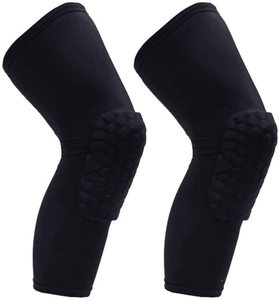 7. PISIQI Knee Compression Pads Long Leg Sleeve Brace