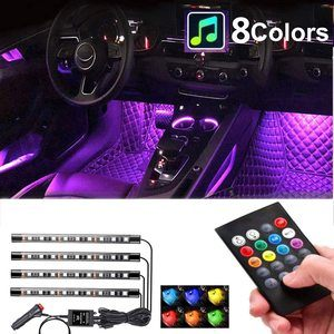 #8 Car Interior Lights 4pcs 36 LED Car Floor