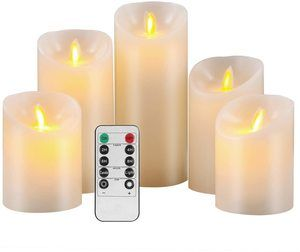 #8 Pandaing Flameless Candles Set of 5 Battery Operated LED