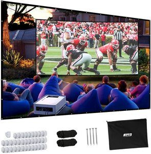 #8 Projector Screen, Upgraded 150 inch Portable Projector Screen