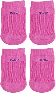 8. Mabua PINK Anti-slip Breathable Half Socks, 4 Pairs