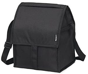 9. aPackIt Freezable Deluxe Large Lunch Bag, Black