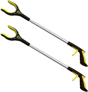 1. 32 Inch Extra Long Grabber Reacher with Rotating Jaw (Yellow)