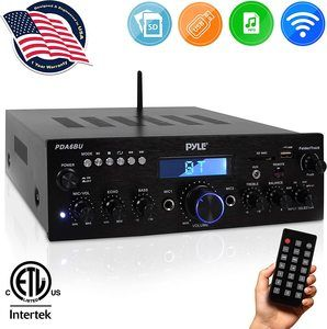 1. Pyle 200W Wireless Bluetooth Power Amplifier System